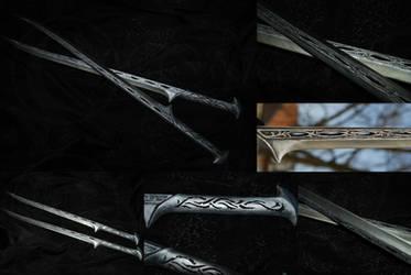 Thranduil's Swords by Ilionej