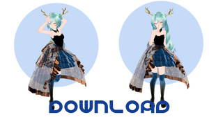 TDA Gold Deer Miku DOWNLOAD Ver 0.1 by catcreaturee