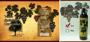 Label and Poster - Red Wine