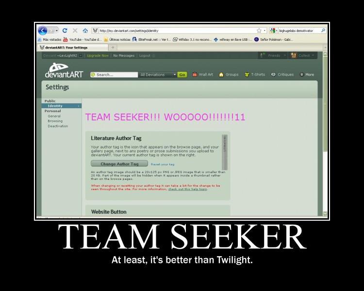 Team Seeker demotivator