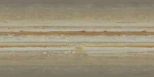 Jupiter True Color Texture Map - Galileo Hubble 95