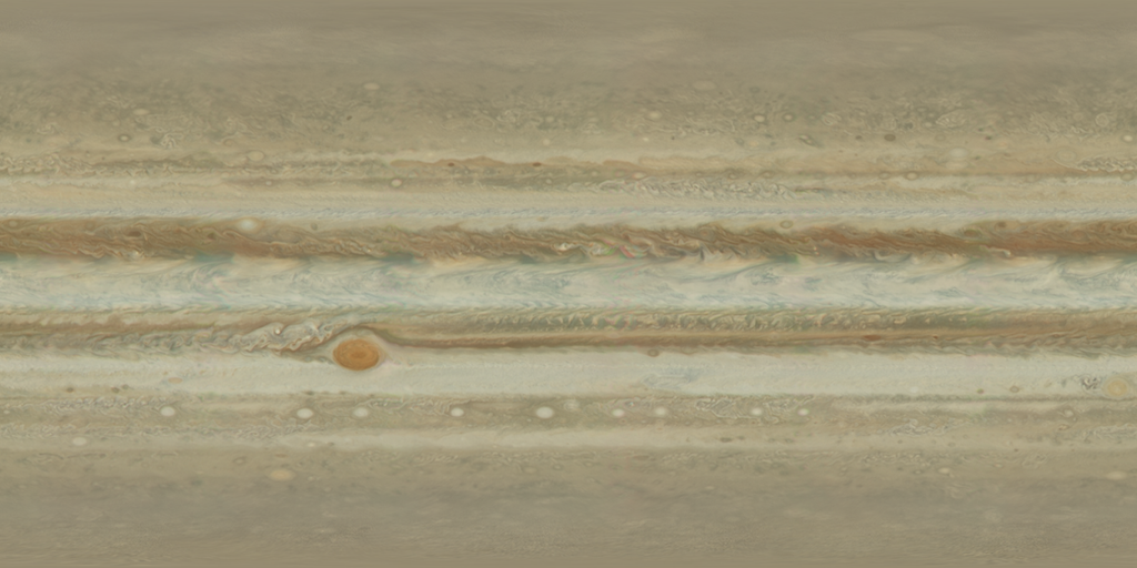 Jupiter True Color Texture Map Juno Hubble 16 by FarGetaNik on