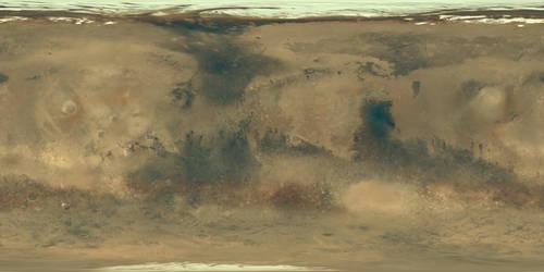 Mars Texture Map 16k - Mars Global Surveyor