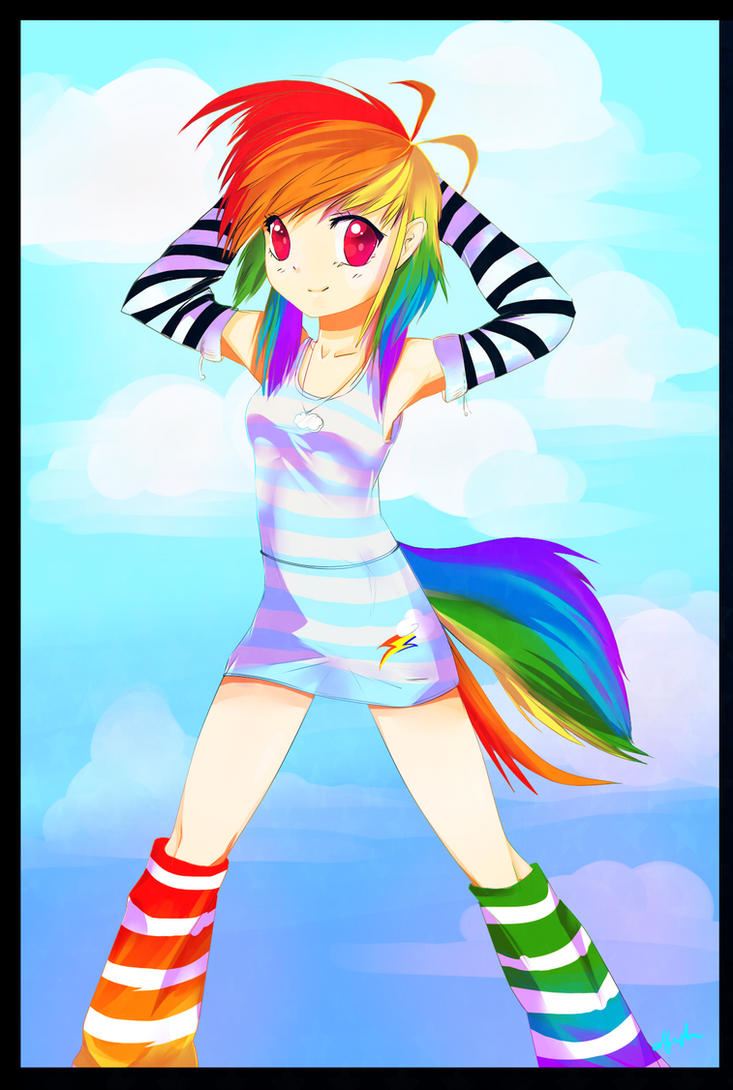 Human dashie by Affanita