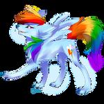 Wolf Rainbow dash
