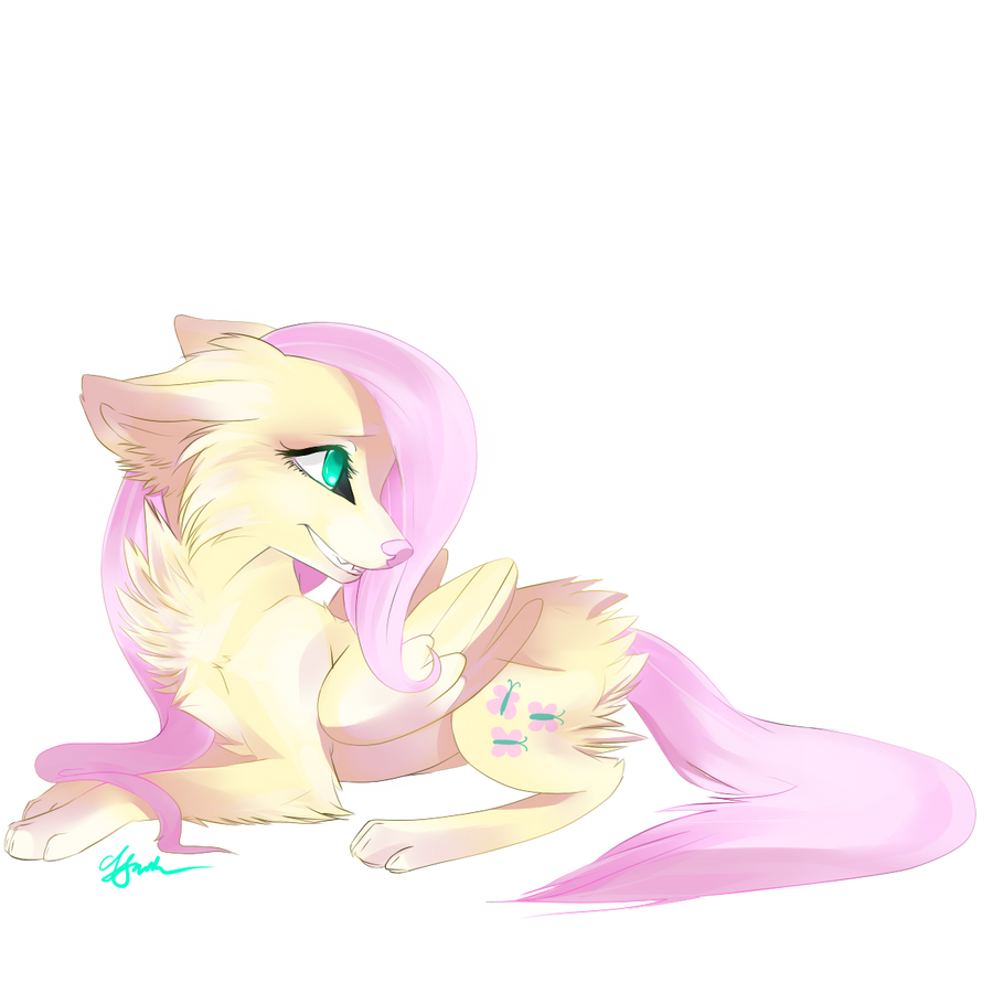 Wolf Fluttershy by Affanita