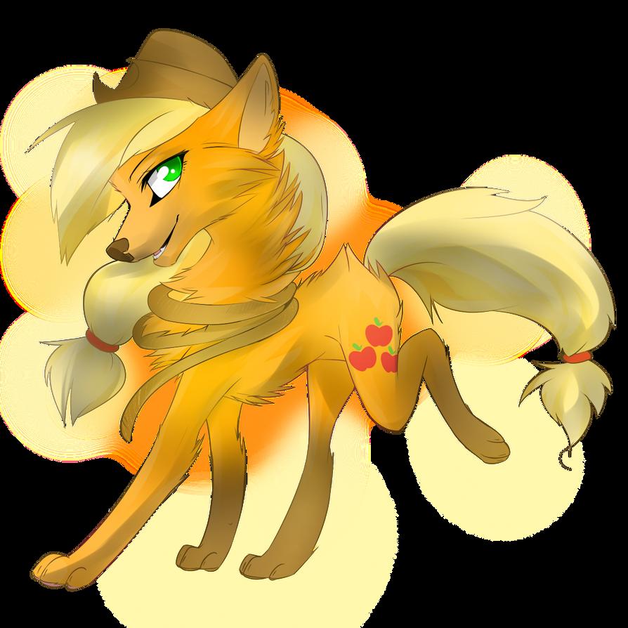 Applejack wolf by Affanita