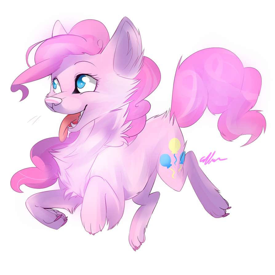 wolf Pinkie pie by Affanita