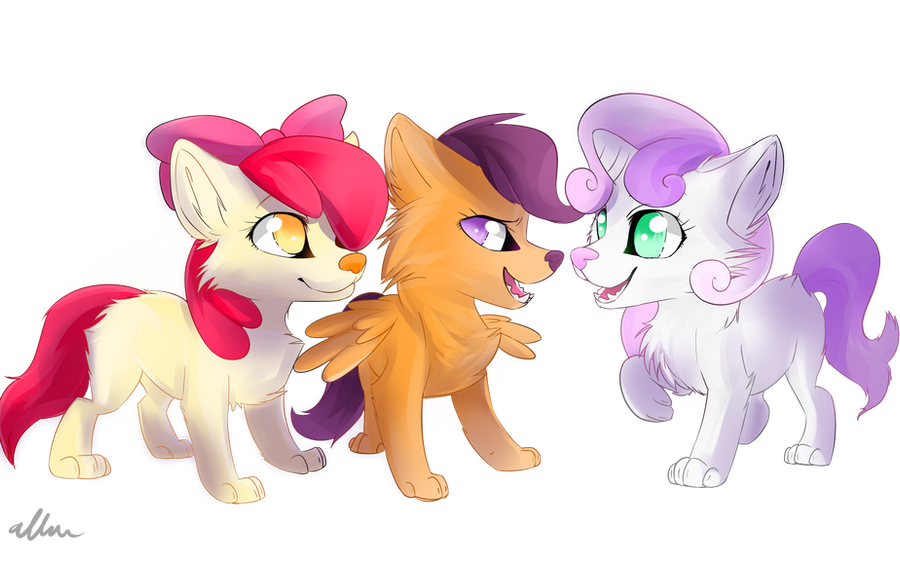wolf Cutie mark crusaders by Affanita