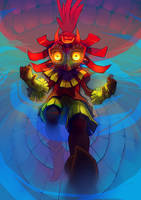 Majoras Mask - Skull kid's descent by Affanita