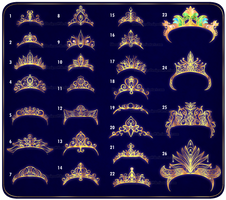 [closed] Diadems and Crowns by IdunaHayaDesigns