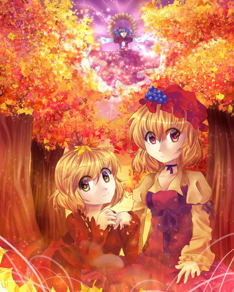 Farewell Autumn Garden by Ikanu96