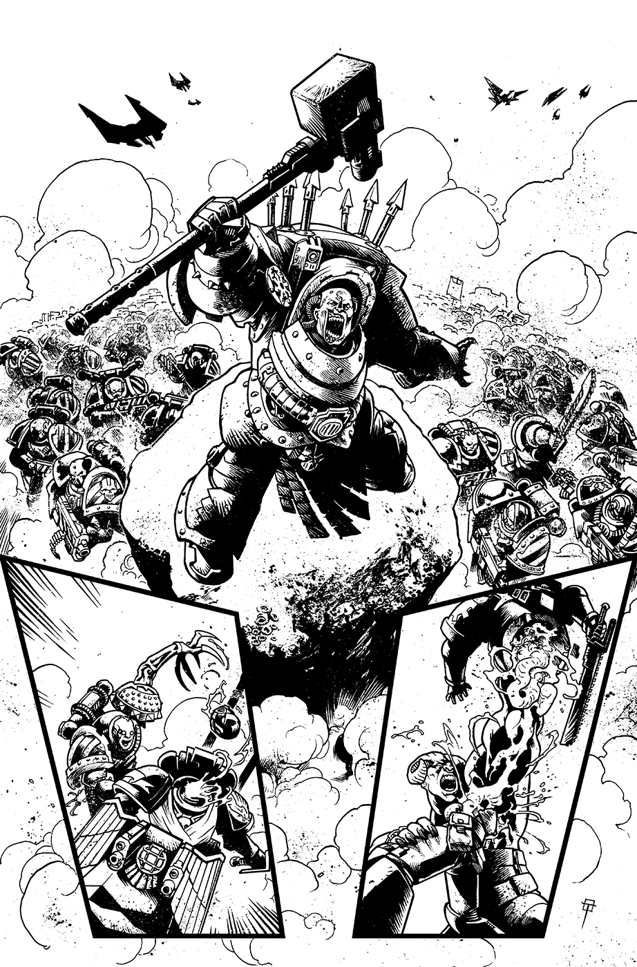 Page from Warhammer 40,000: Will of Iron vol.3 by Spacefriend-T