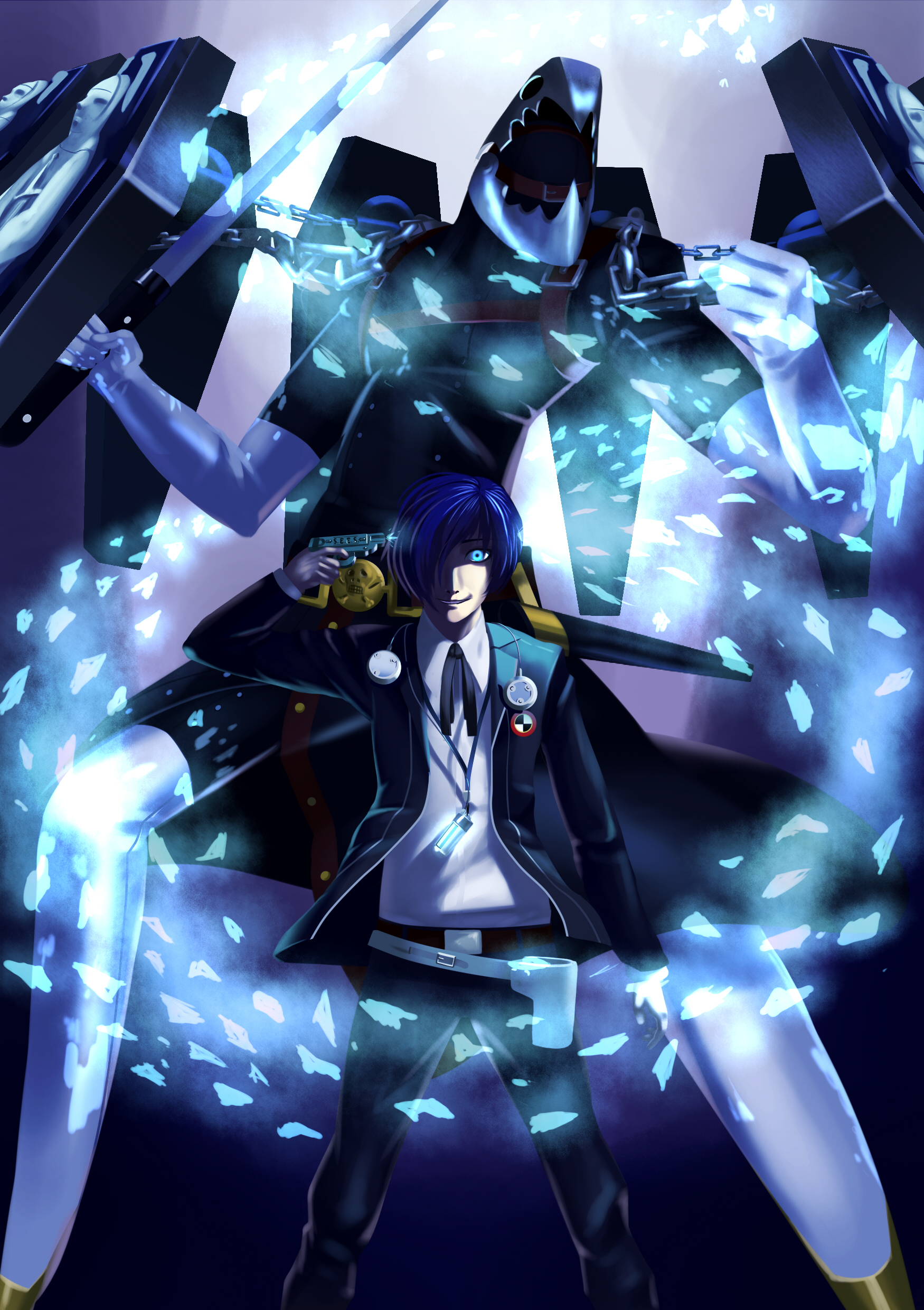 Persona 3 Protagonist And Thanatos By Bodki 2 On Deviantart