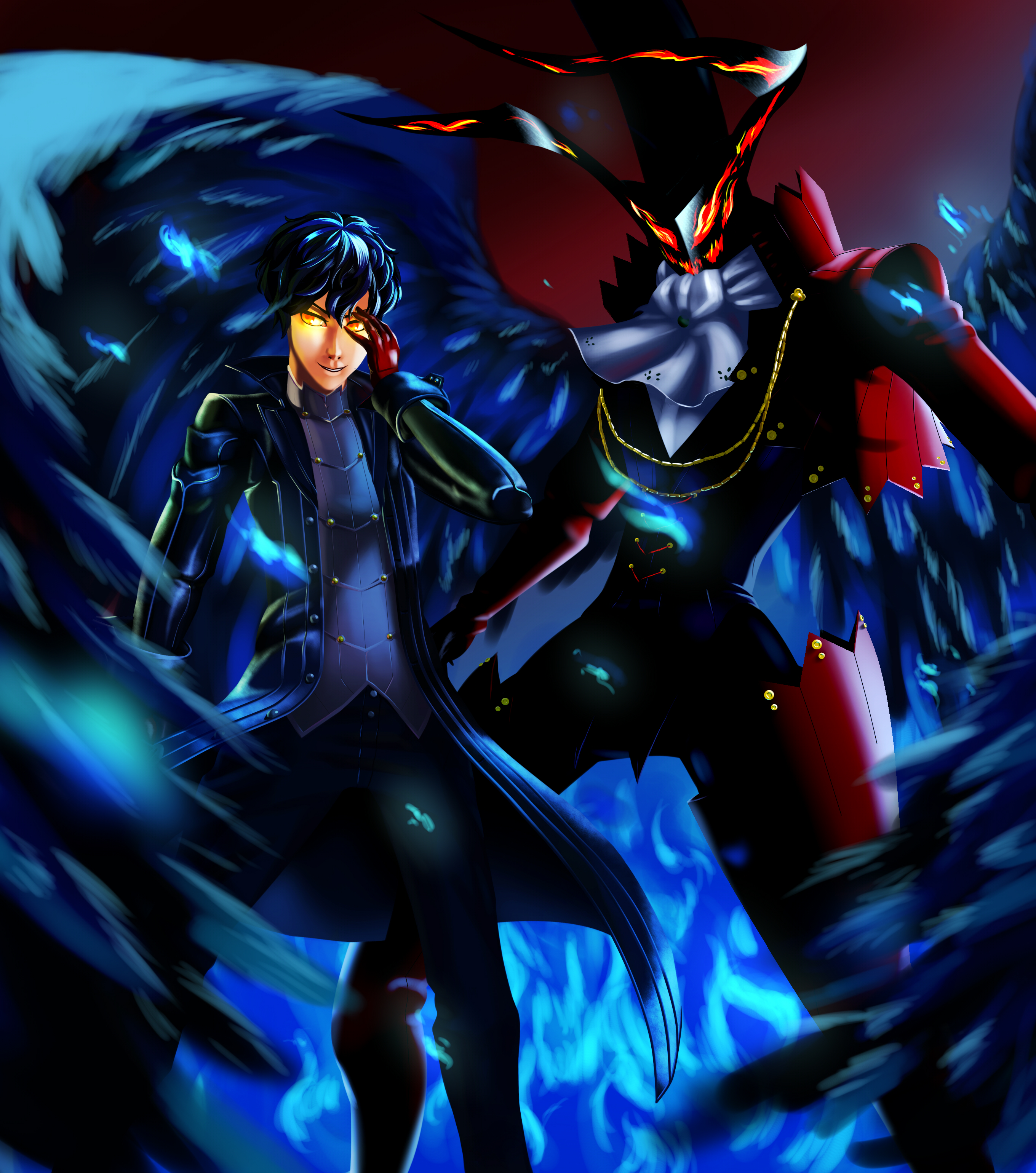 Persona 5 Protagonist Joker And Arsene By Bodki 2 On Deviantart Amamiya ren's initial persona in persona 5, based on maurice leblanc's gentleman thief character of the same name. persona 5 protagonist joker and arsene