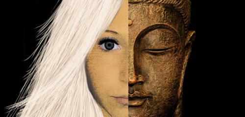 Myself and Buddhhaa by littlemisselin
