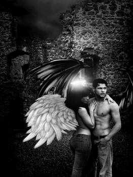 demon and angel are in love but they can not be to