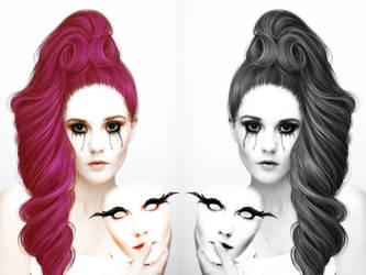 wear the mask don't let it show. by littlemisselin