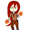 Erza Chibi Pixel by andreis98