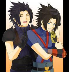 KHxFF7- Terra and Zack II by meru-chan