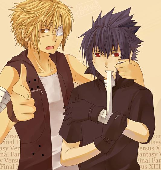 FFversus13- Shotgun and Prince by meru-chan