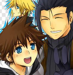 KHxFF7- A Heroic Duo by meru-chan