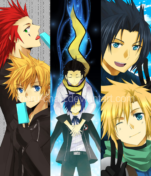 Bookmark- Games set:P3,FF7,KH by meru-chan