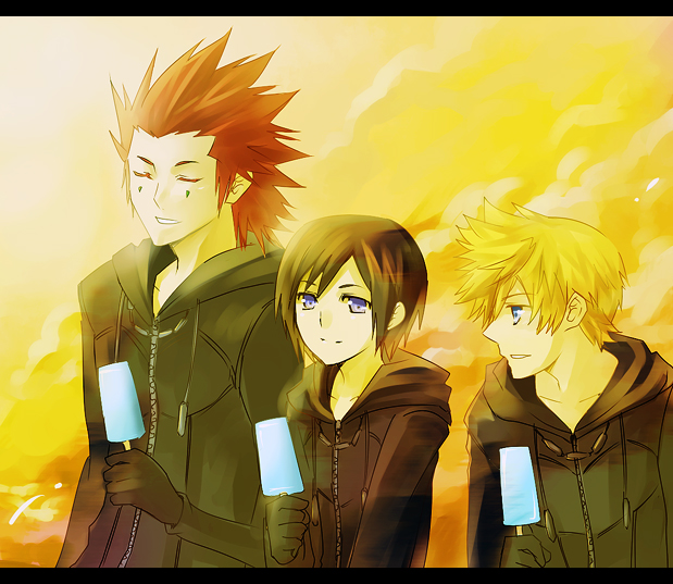 KH- Sunset Trio by meru-chan