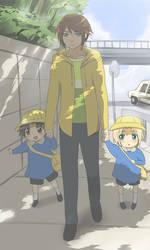 Dissidia FF- Off to school by meru-chan
