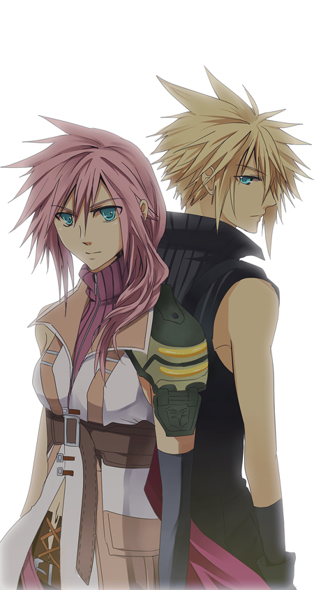 FF7xFF13- Lightning and Cloud by meru-chan