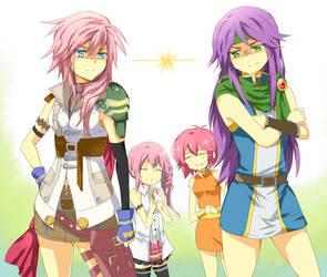 FF5 x FF13- Sis-con squabble by meru-chan