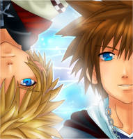 KH2- Roxas and Sora by meru-chan
