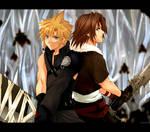 KH2- Cloud and Leon by meru-chan