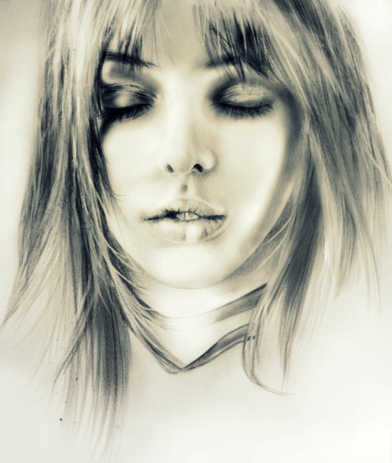 Model's Face Sketch by dahyun on DeviantArt