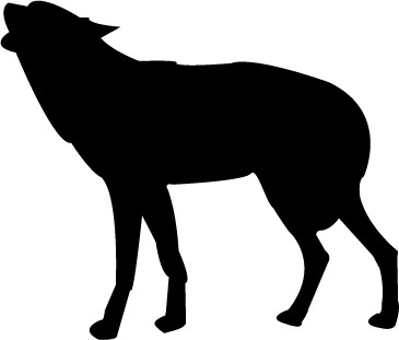 wolf silhouette vector by saphaer69