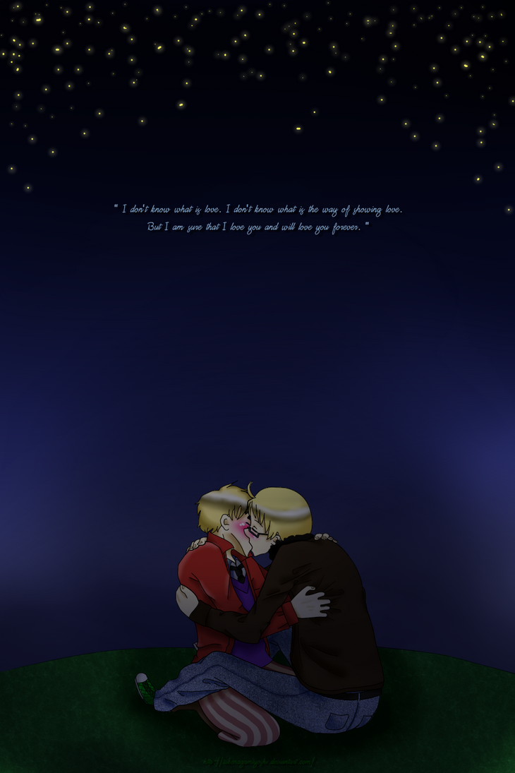 {UsUk} In my world there's only you and me by TakenagaMiyoshi