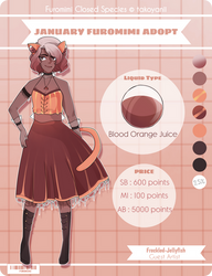 January Furomimi Adopt [Blood Orange juice] CLOSED by Freckled-Jellyfish