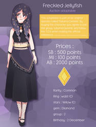 [Auction] Saturnian Adoptable #1 [CLOSED] by Freckled-Jellyfish