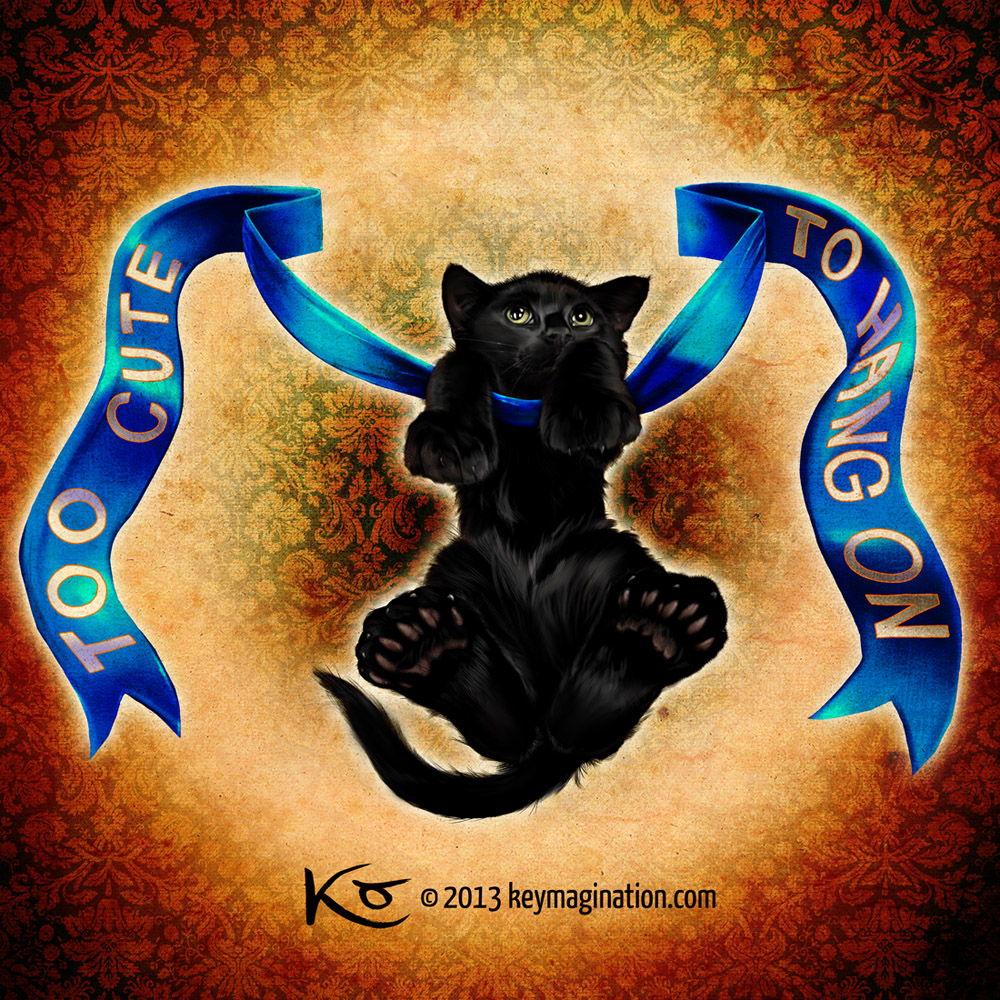 Black Big Foot Kitty 2013 by Keymagination