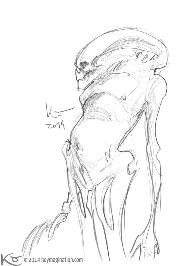 Alien 4 doodle 2014 by Keymagination