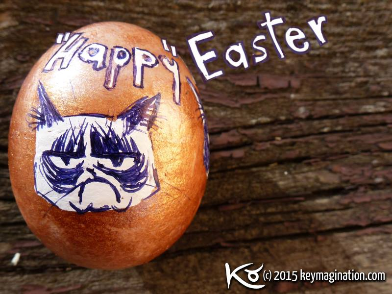 Happy Easter Grumpy Cat 2015 by Keymagination