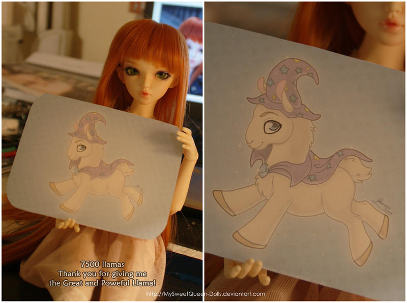 thank you for The Great and Powerful Llama! by MySweetQueen-Dolls