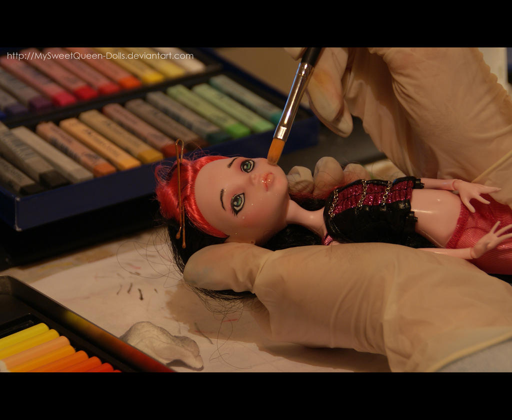 Working in the New Repaint by MySweetQueen-Dolls