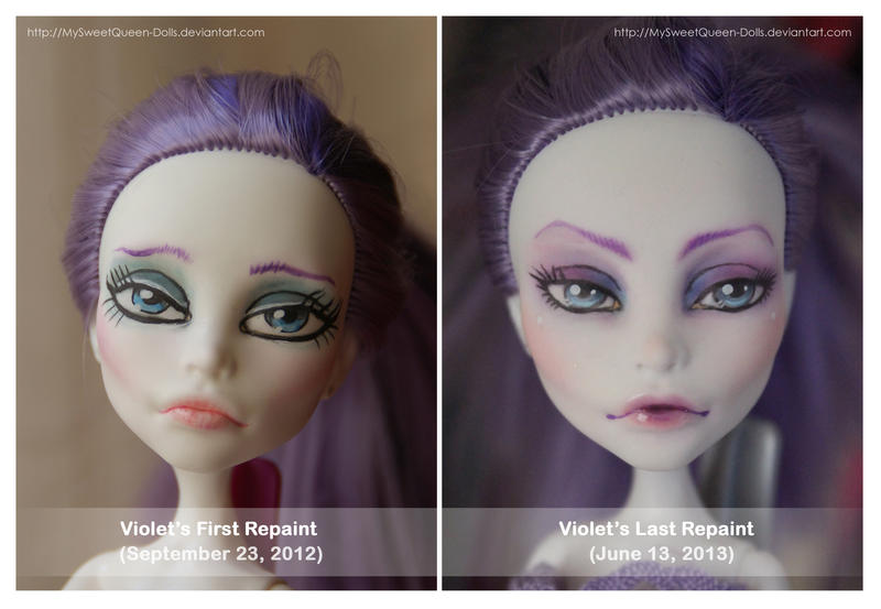 Then and Now: Violet by MySweetQueen-Dolls