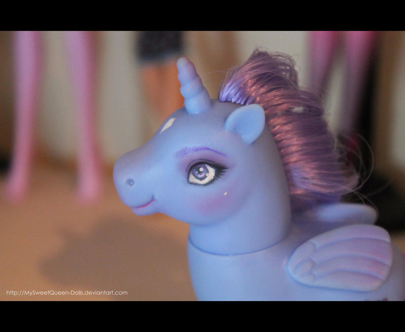 Repainted Blue Pony (For Sale) by MySweetQueen-Dolls