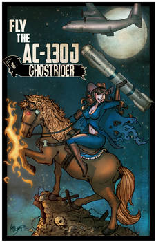 AC-130 Ghostrider - Art by Mike Shampine