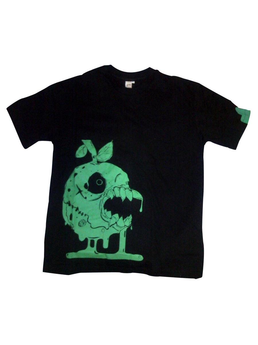 Monster Apple T-shirt by BlakBunni