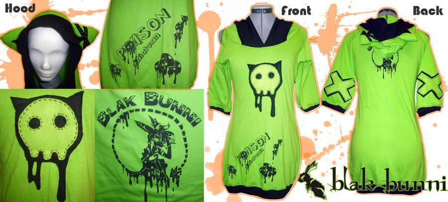 Punk Poison Kitten Hoodie by BlakBunni