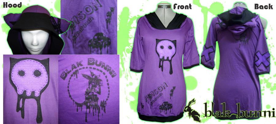 Punk Poison Kitten Hoodie 2 by BlakBunni