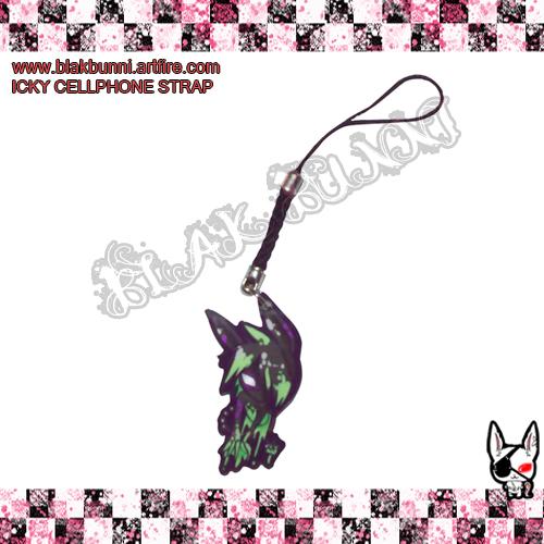 Icky Cellphone strap by BlakBunni